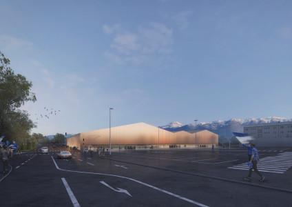 Eishalle Villach_Außenperspektive_PENTAPLAN